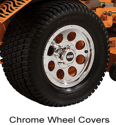 Scag Chrome Wheel Covers Purchases Of 50$ Or More Receive Free Shipping.